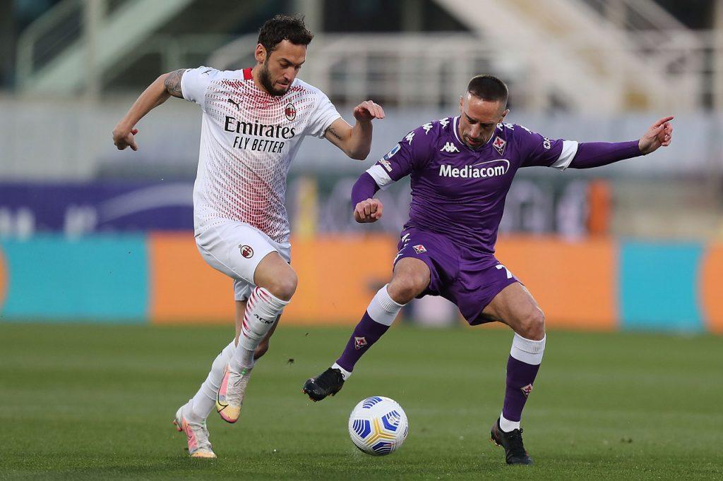 Fiorentina Milan 2-3 Ibrahimovic Pulgar Ribéry Brahim Diaz Calhanoglu Serie A TIM 28ème journée