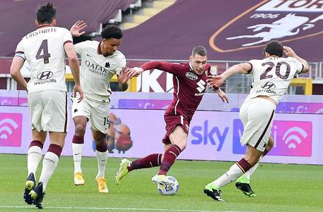 Torino Roma 3-1 Mayoral Sanabria Zaza Rincon 31ème j. Serie A TIM